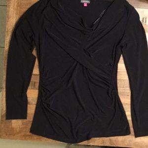 Vince Camuto Long Sleeve Shirt, Black, Size: Large